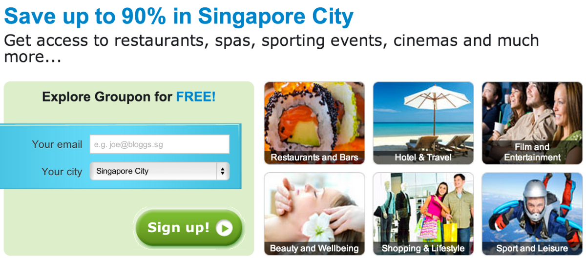 Save up to 90% in Singapore City at Groupon sg | collectoffers com