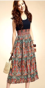 Vintage Style Sleeveless High Waist Long Dress
