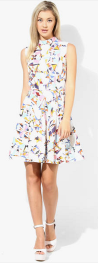 white multicolor dress