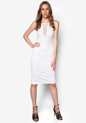 Zalora Fastion - Bardot Lace Me Up Dress