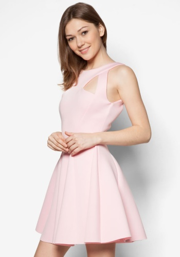 Zalora Fastion - Goddiva Cut Out Skater Dress