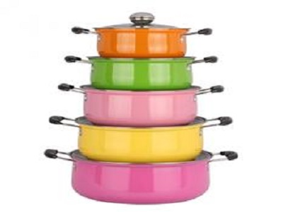 colored cooking pot