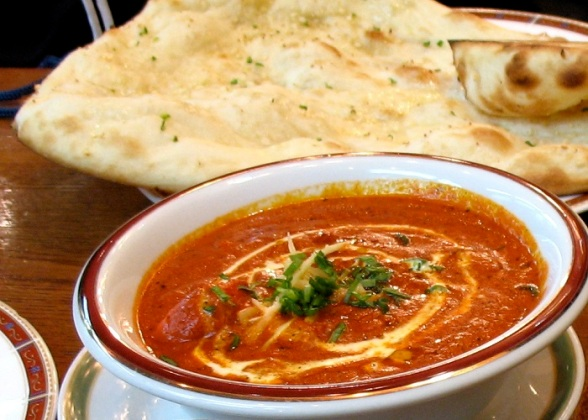 Butter-Chicken with naan