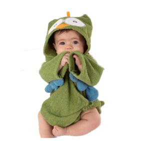 green bathing robe