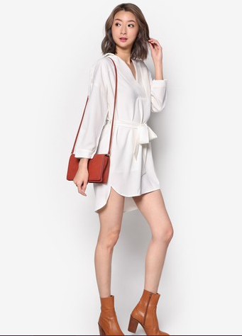shirt dress drop shoulder