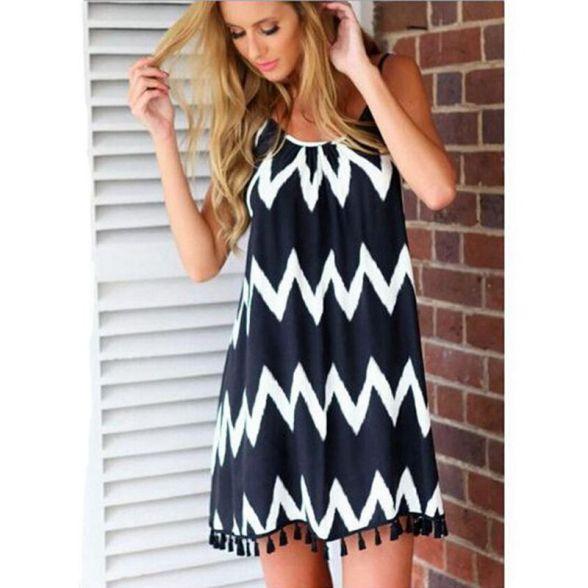 new-style-woman-fashion-sexy-white-black-font-b-wave-b-font-stripe-print-tassel-font