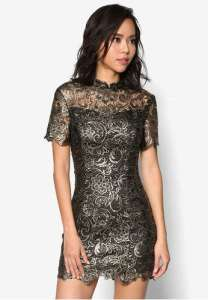 gold-lace-bodycon