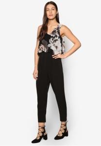 petite-black-floral-overlay-jumpsuit