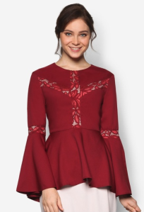 red-peplum