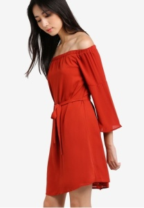dip-back-off-shoulder-dress