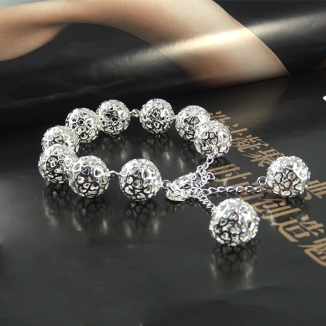 Luxury-Brand-925-Silver-Hollow-Beads-Ball-Cable-Bracelet-For-Women-Indian-Vintage-pulseira-Charm-Bracelets