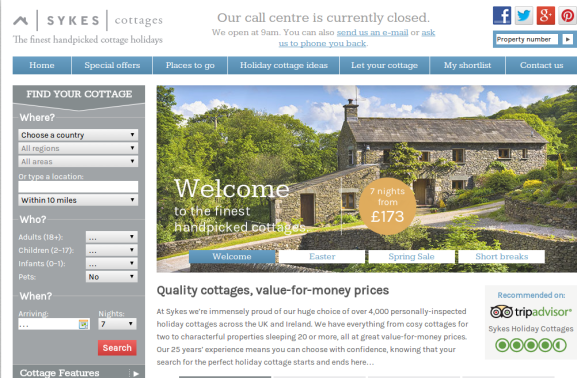 Sykes Cottages Voucher Codes