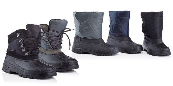 Mens-Slip-On-or-Lace-Up-Snow-Boots