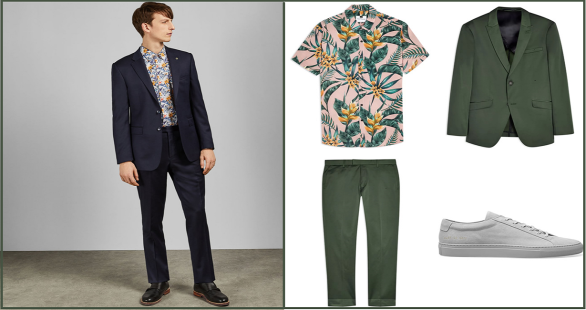 Tailored Suits with Florals